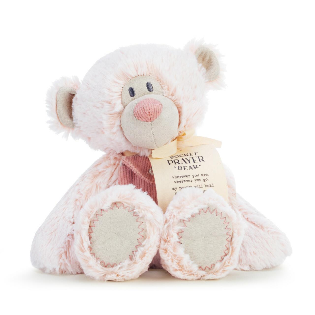 """demdaco 16"""" Pink Pocket Prayer Bear"""