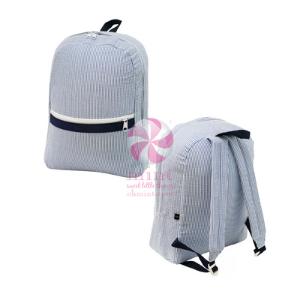 Mint Medium Seersucker Backpack