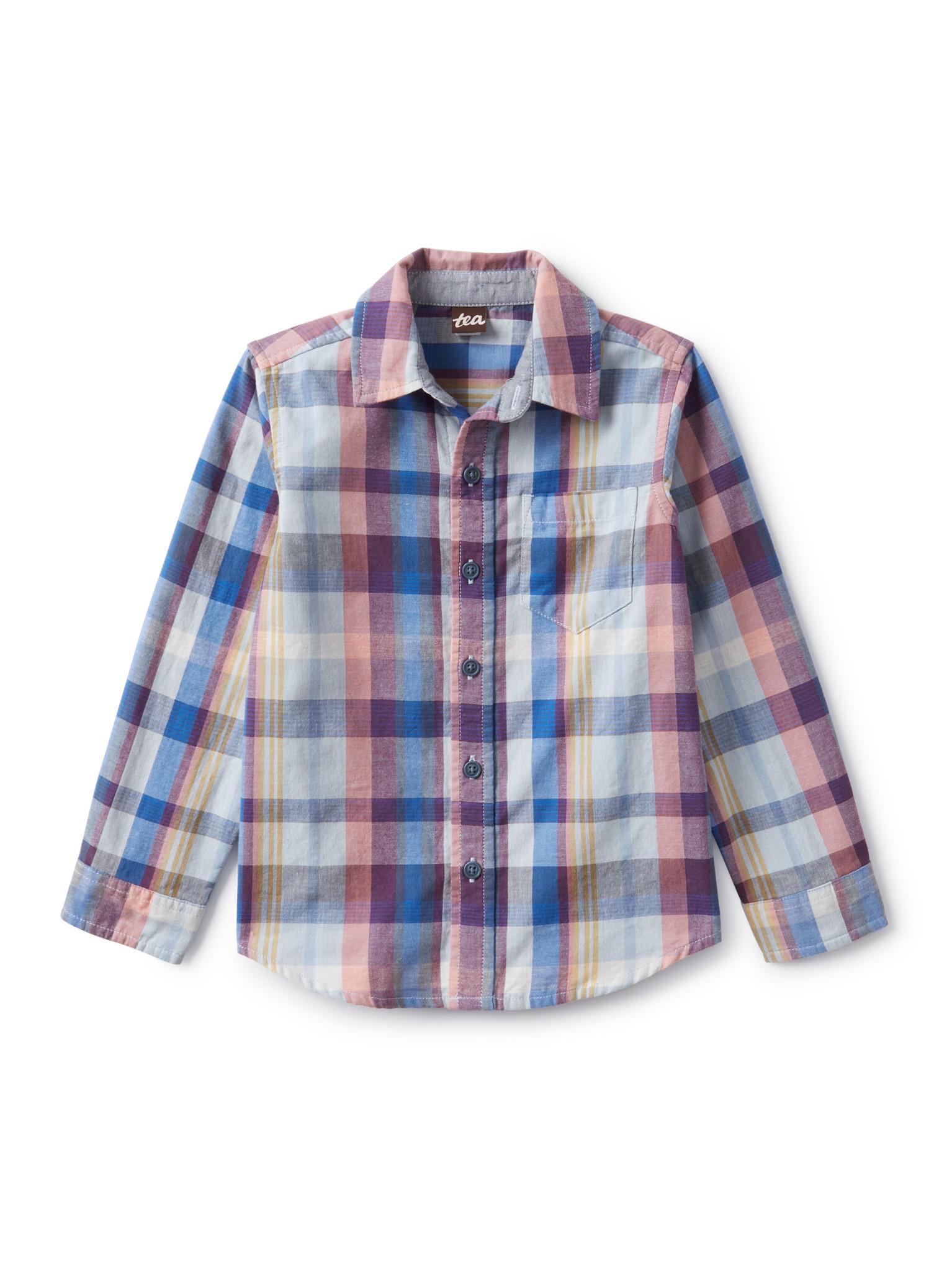 Tea Collection Plaid Button Up Shirt