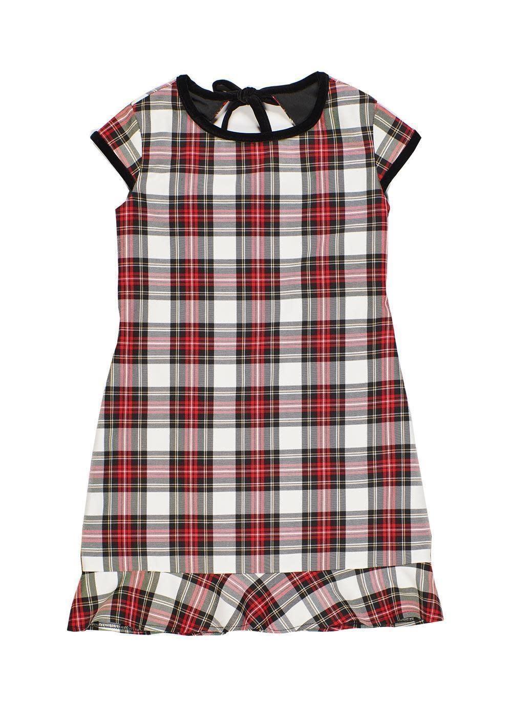 Florence Eiseman Velvet Trim Plaid Dress