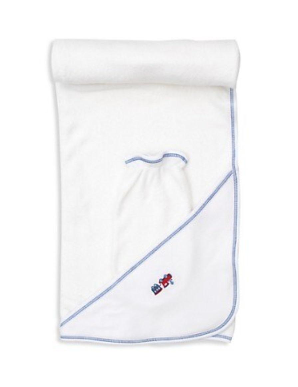 Kissy Kissy Railway Train Hooded Towel Set