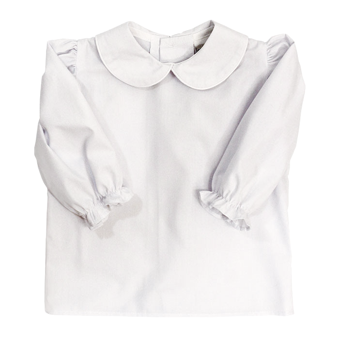 Bailey Boys Girls' Button Back L/S Piped Blouse