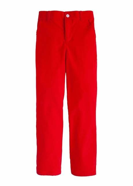 Little English Red Cord Skinny Pant