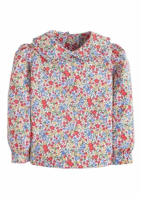 Little English Middleton Floral Ruffle Blouse