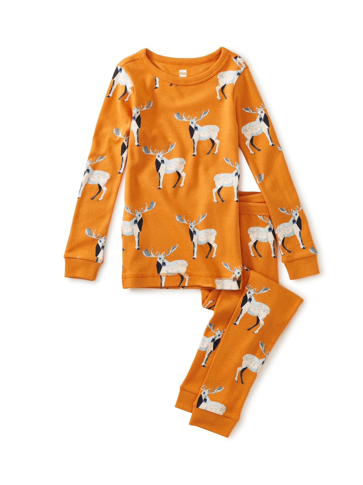Tea Collection White Moose Pajamas