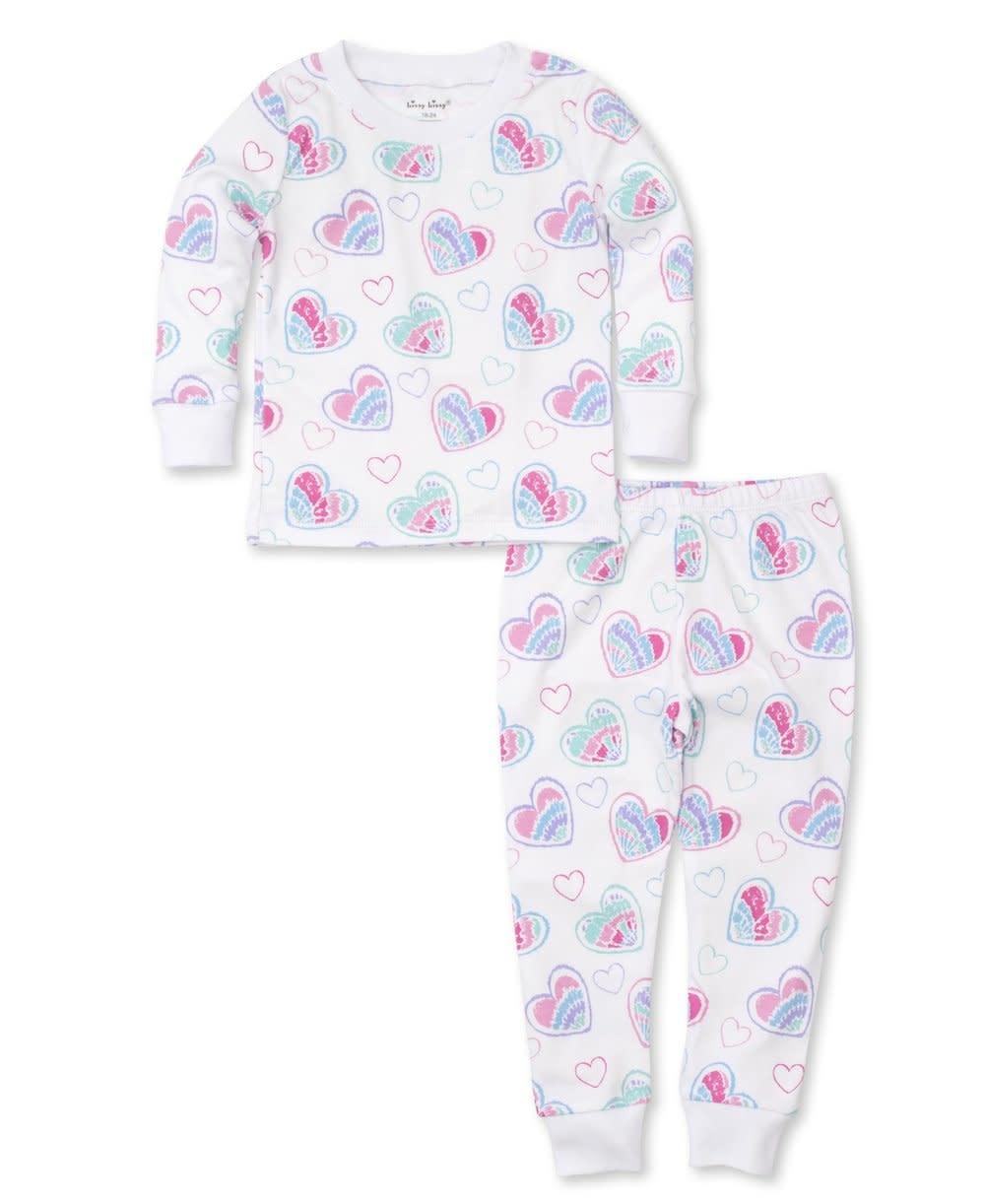 Kissy Kissy Tie Dye Heart Pajama Set