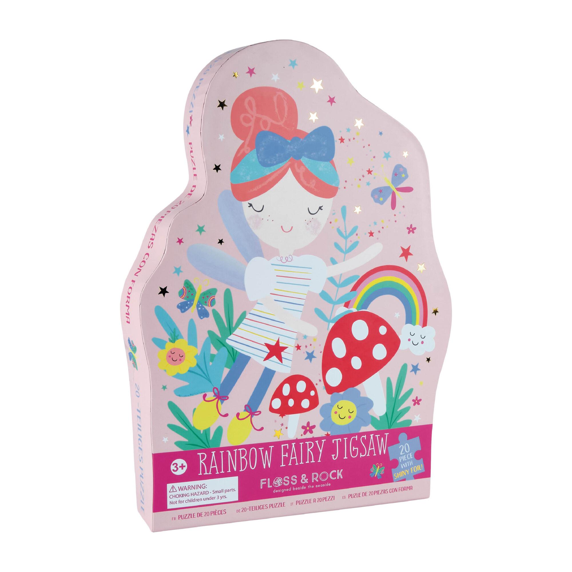Floss & Rock 20 pc Rainbow Fairy Jigsaw Puzzle