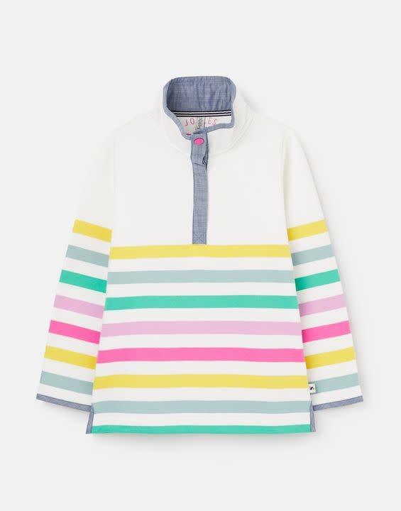 Joules Multi Stripe Half Zip Sweatshirt