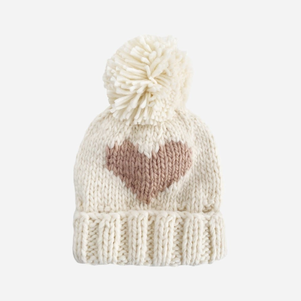 The Blueberry Hill Blush Heart Knit Hat