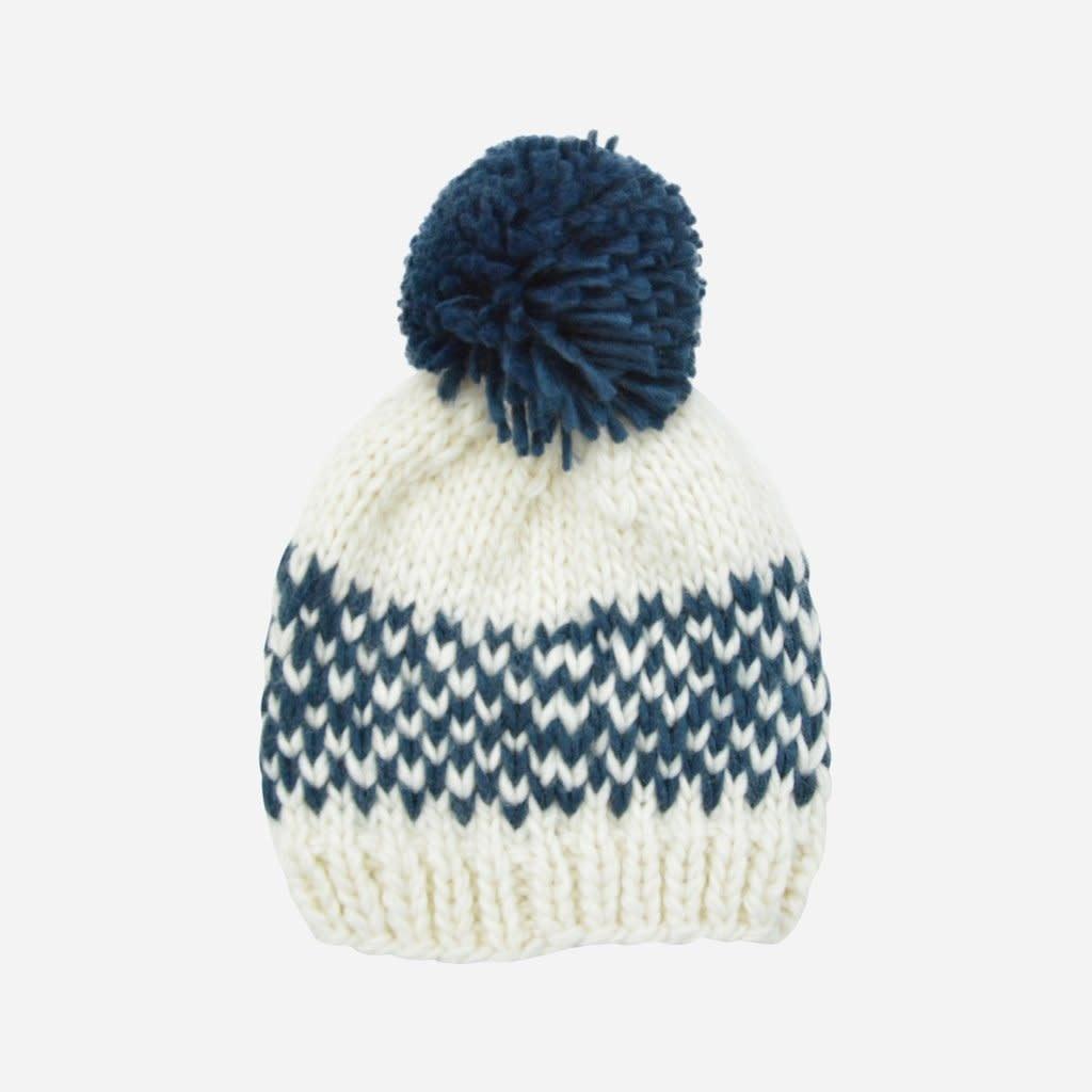 The Blueberry Hill Denim Fairisle Stripe Hat