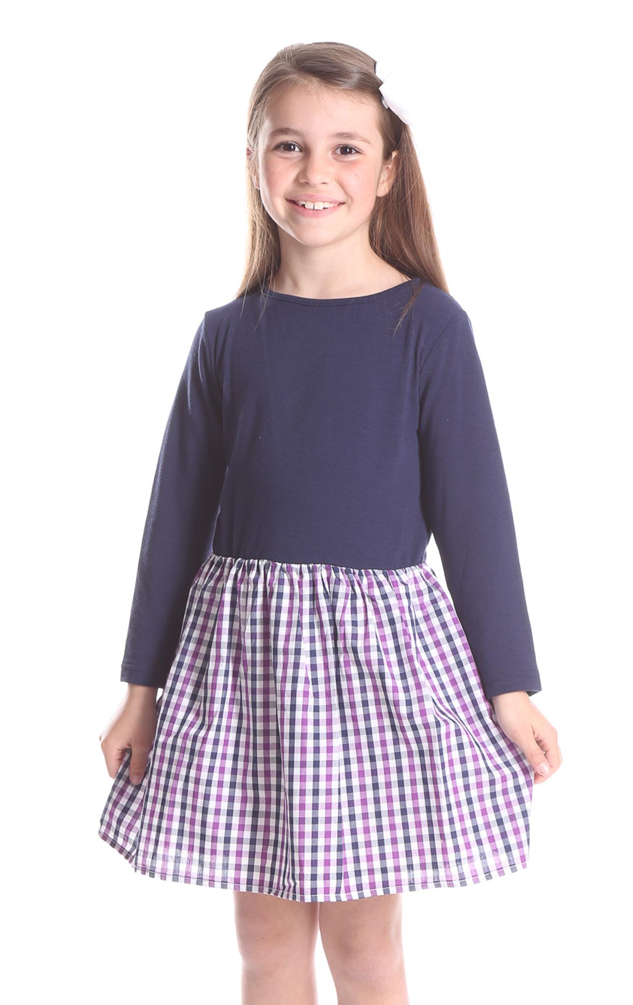 Duffield Lane Navy/Purple Sydney Dress