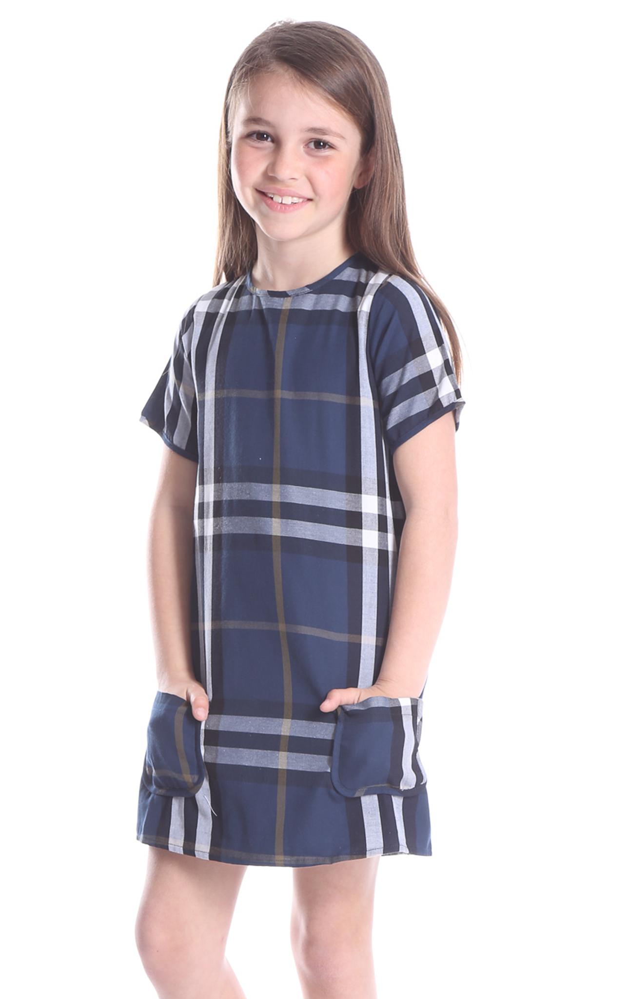 Duffield Lane Navy Plaid Gracie Dress