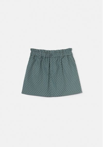 Compania Fantastica Grey Polka Dot Skirt