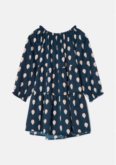 Compania Fantastica Navy Print Dress