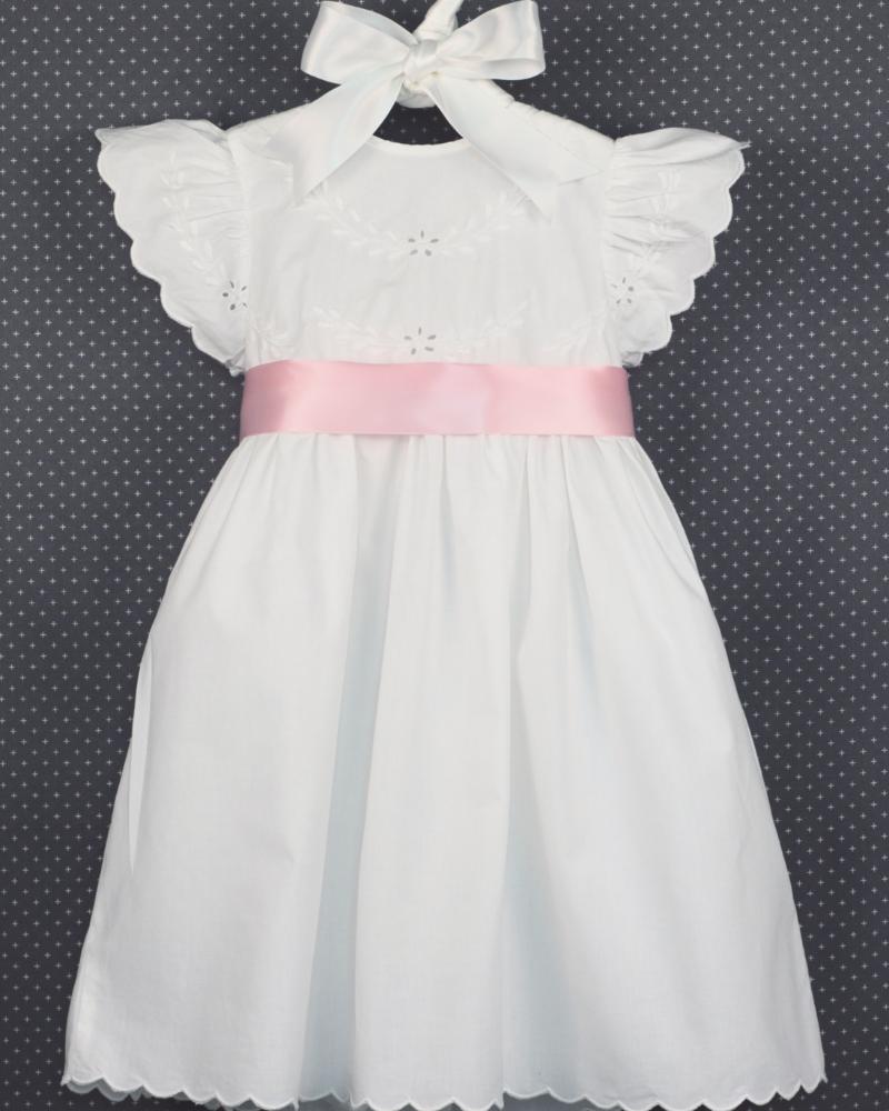 Edward Boutross Angel Wing Eyelet Scallop Dress