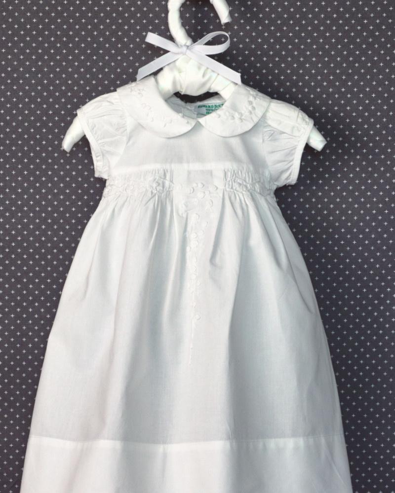 Edward Boutross White French Rosebud Dress