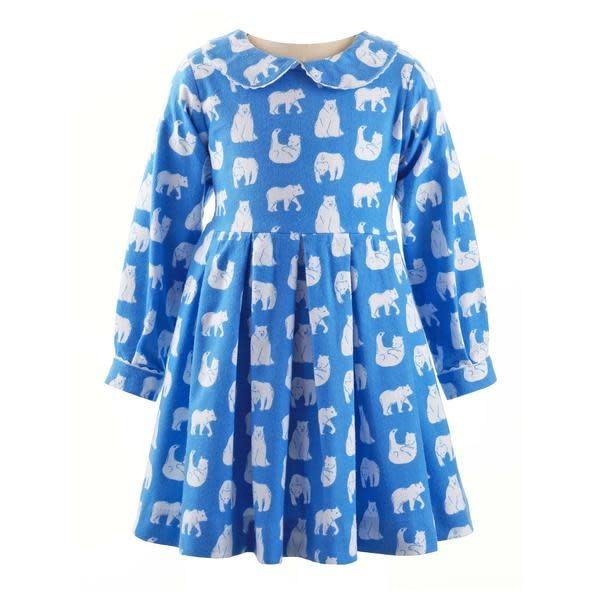Rachel Riley Polar Bear Flannel Dress