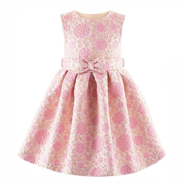 Rachel Riley Sparkle Floral Damask Dress