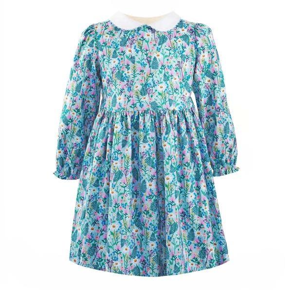 Rachel Riley Blue Botanical Dress
