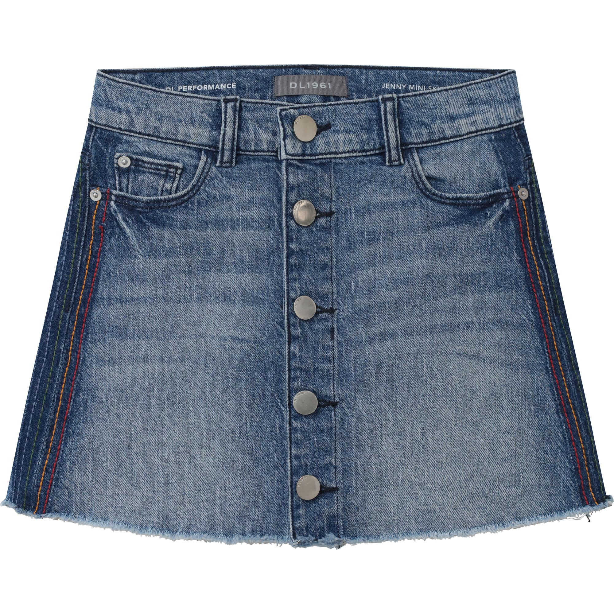 DL1961 Thunder Stripe Jenny Skirt