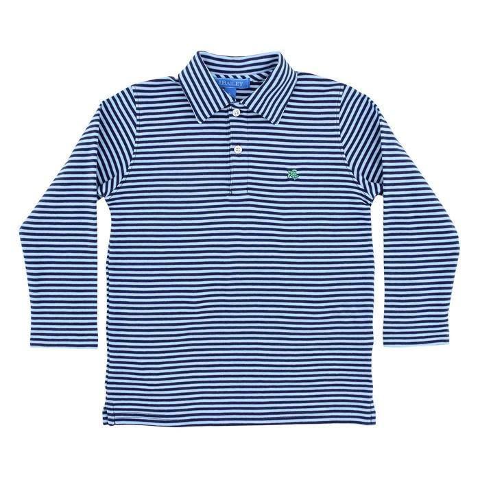 J. Bailey Stripe Long Sleeve Polo