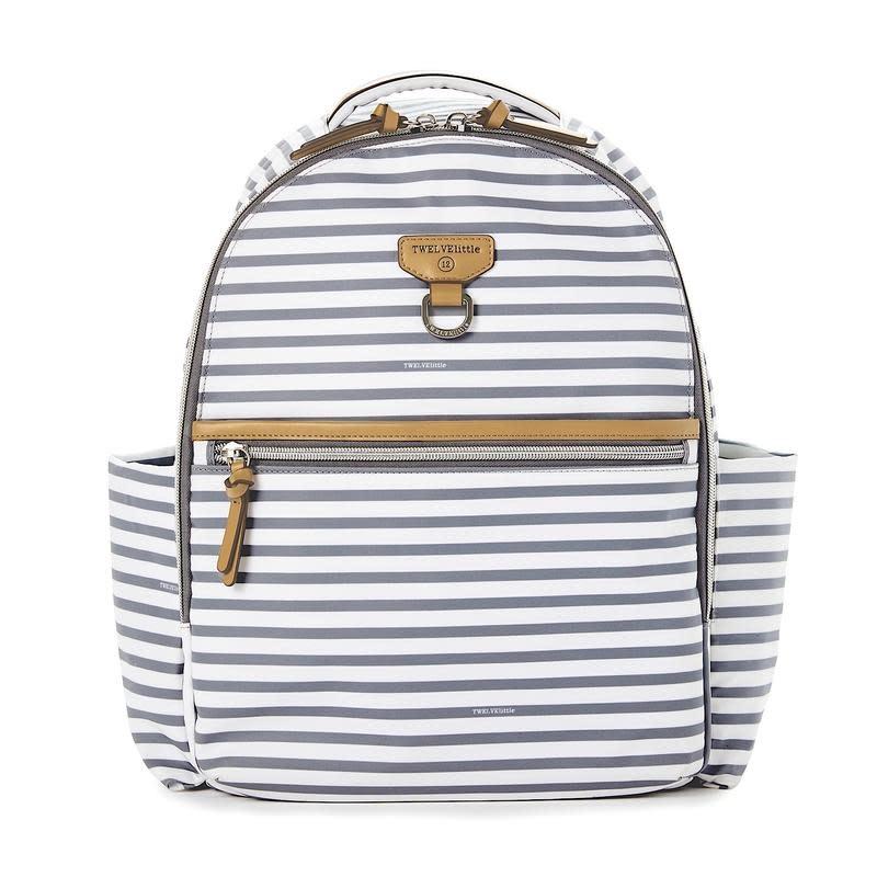 TWELVElittle Grey Stripe Midi-Go Backpack