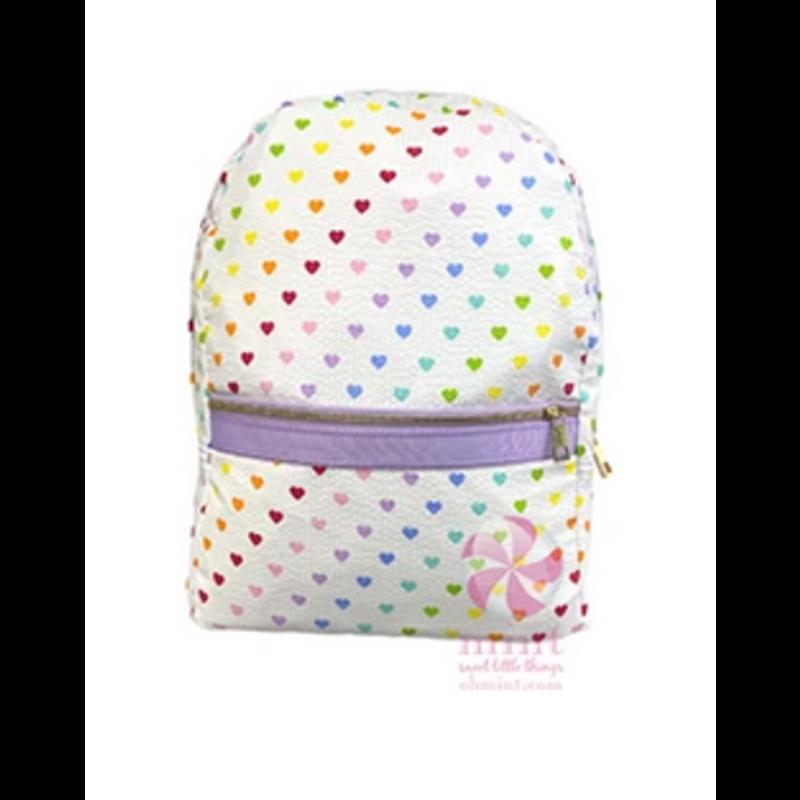 Mint Lilac Tiny Hearts Backpack