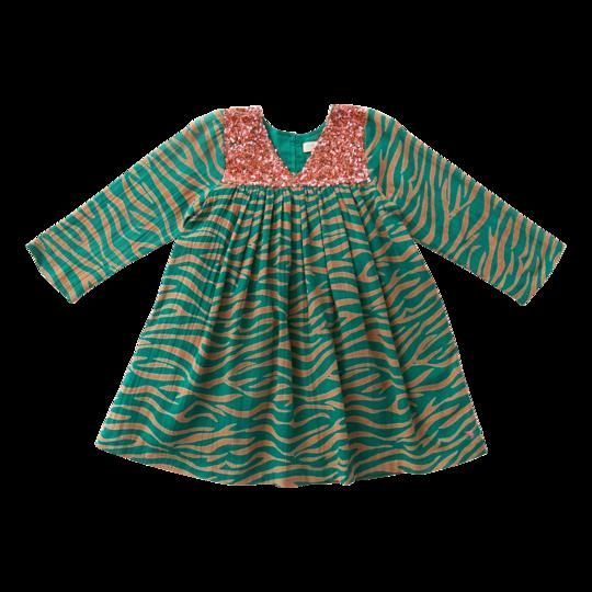 Pink Chicken Green Zebra Courtney Dress