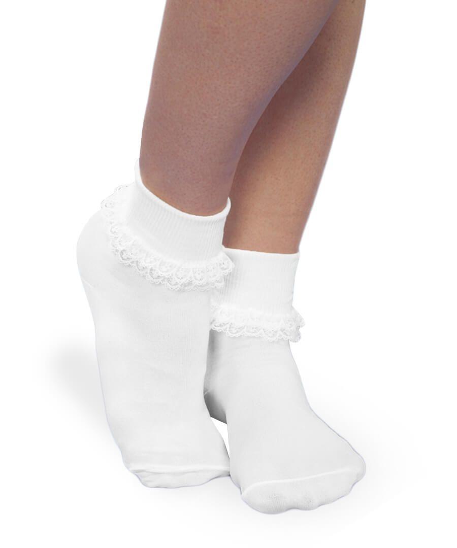 Jefferies Socks Double Lace Cuff Socks