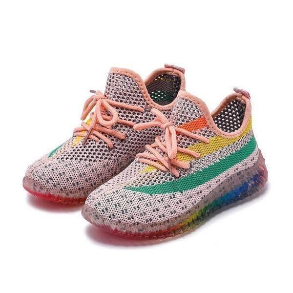 Lola & the Boys Peachy Rainbow Sneakers