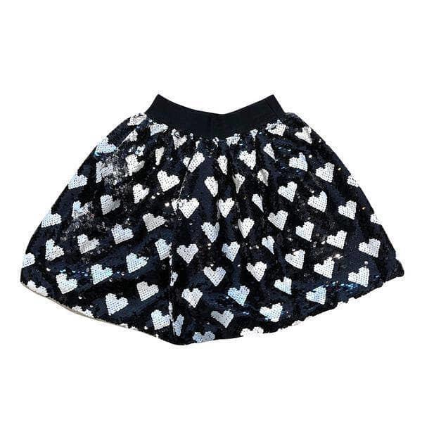 Lola & the Boys Sequin Heart Skirt