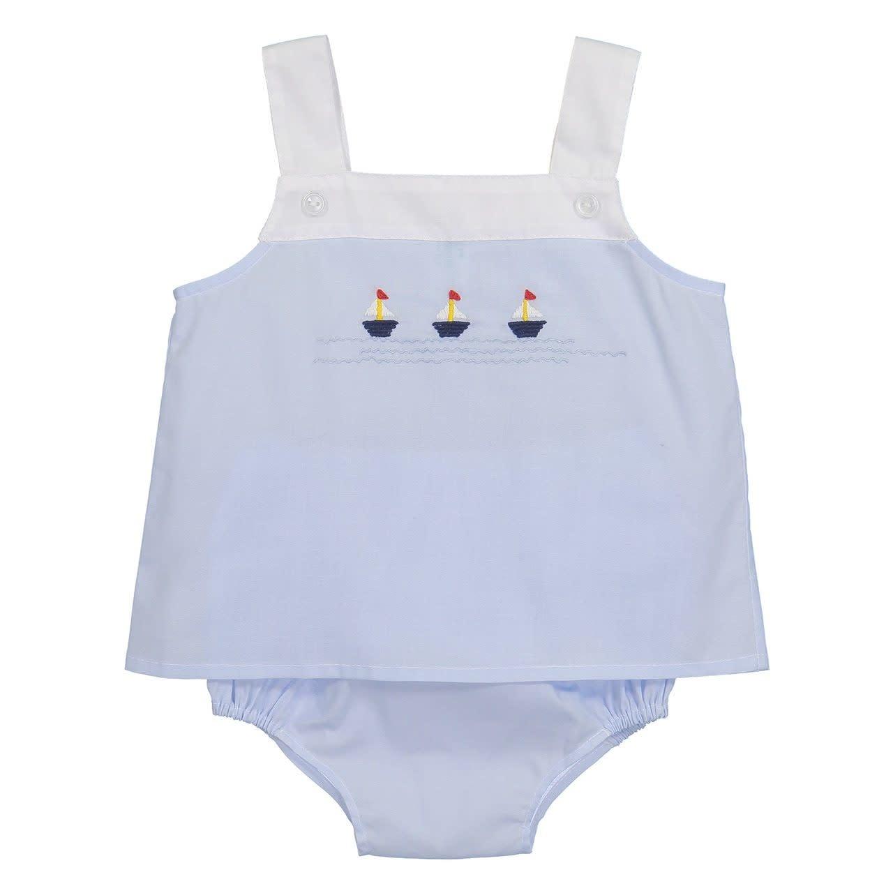 Feltman Brothers Sailboat Buttoned Diaper Set