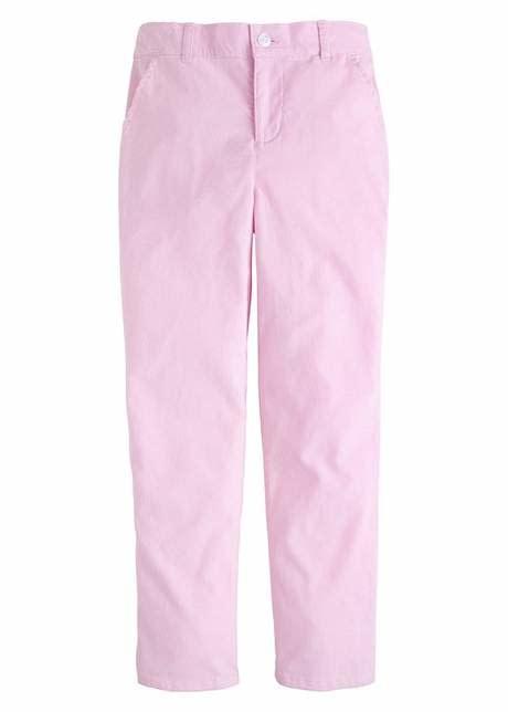 Little English Light Pink Corduroy Skinny Pant