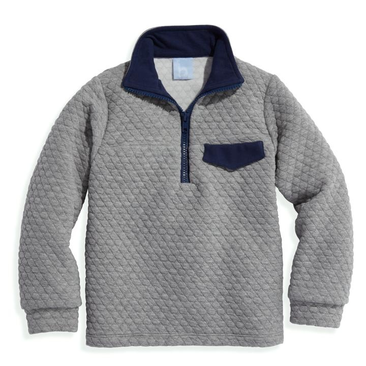 bella bliss Grey Quilted Pullover