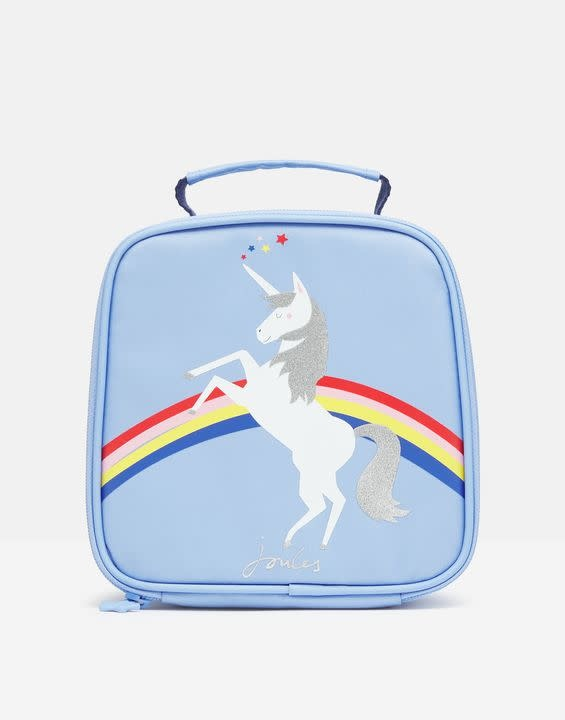 Joules Blue Unicorn Munch Bag