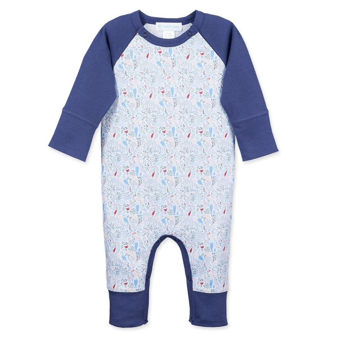 Feather Baby Fish Sailor Sleeve Romper