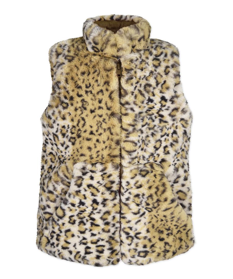 Widgeon Caramel Leopard Vest