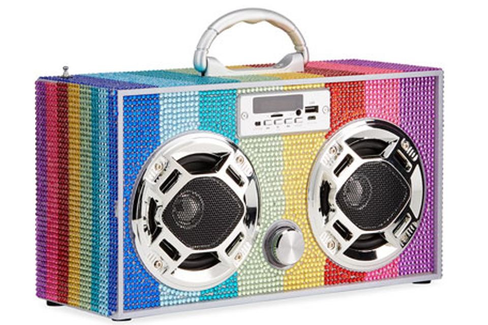 Wireless Express Rainbow Bling Retro Boombox