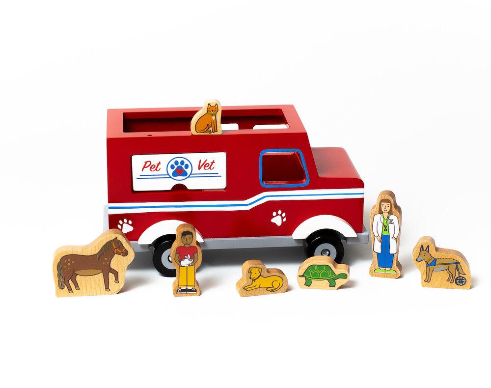 Jack Rabbit Creations Magnetic Pet Vet Truck