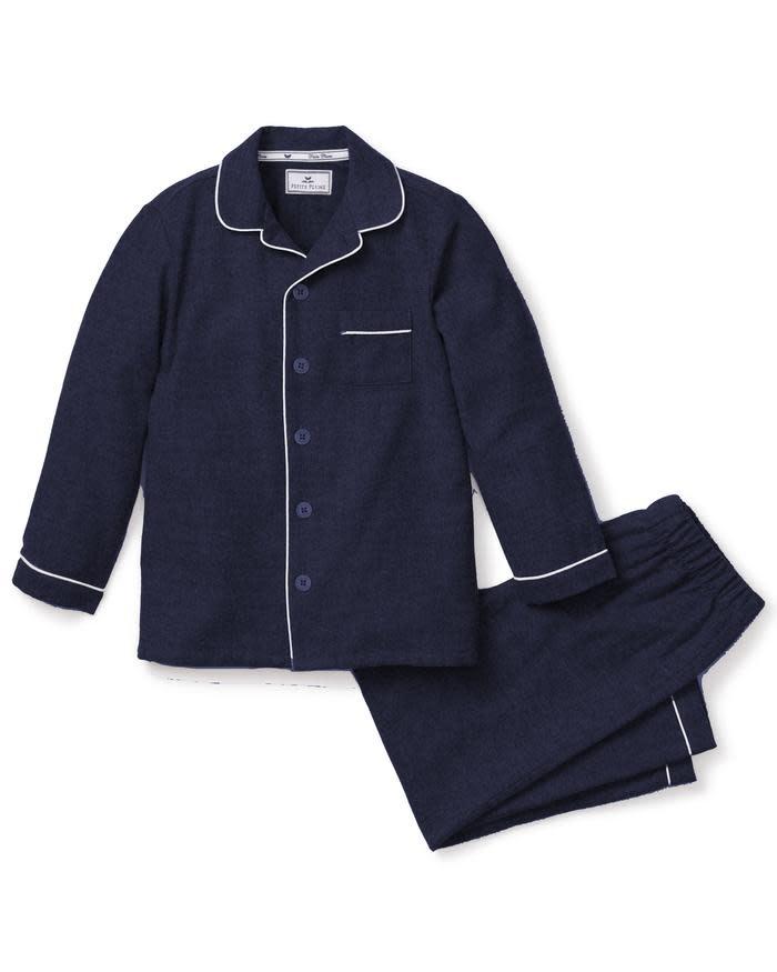 Petite Plume Navy Flannel Pajamas