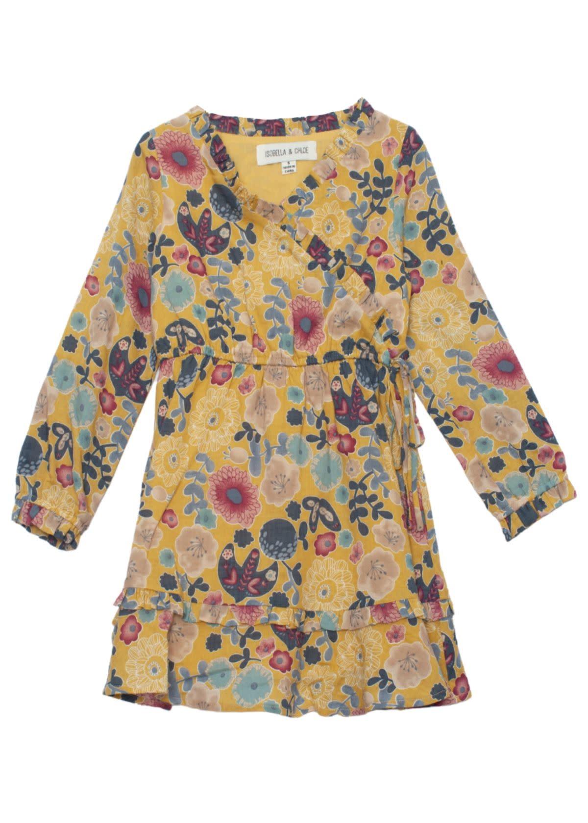 Isobella & Chloe Zen Garden Floral Dress