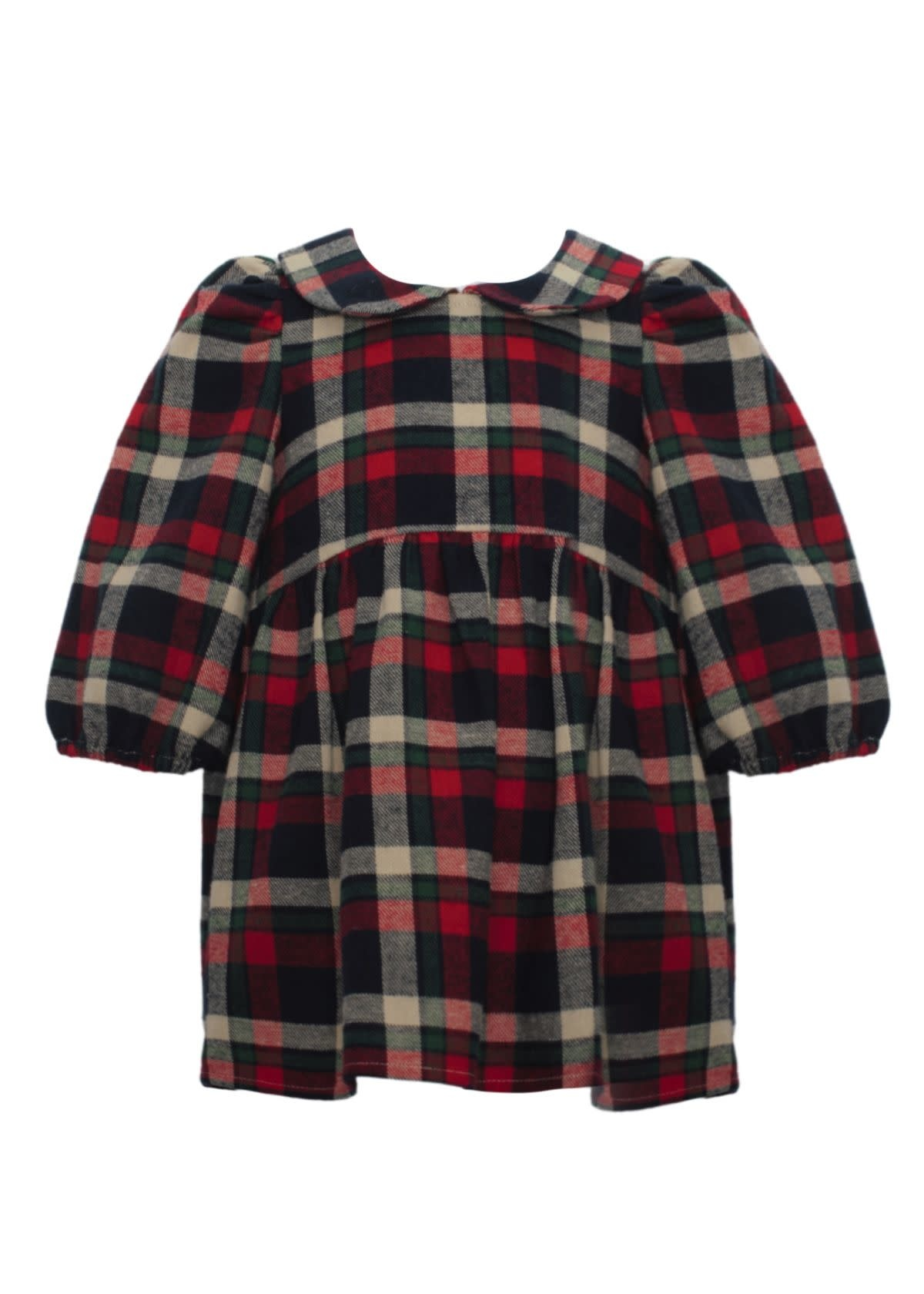 Mabel and Honey Plaid Woven Dress