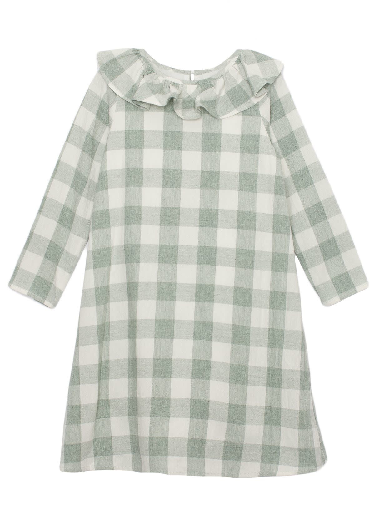 Mabel and Honey Meadow Plaid Woven Dress