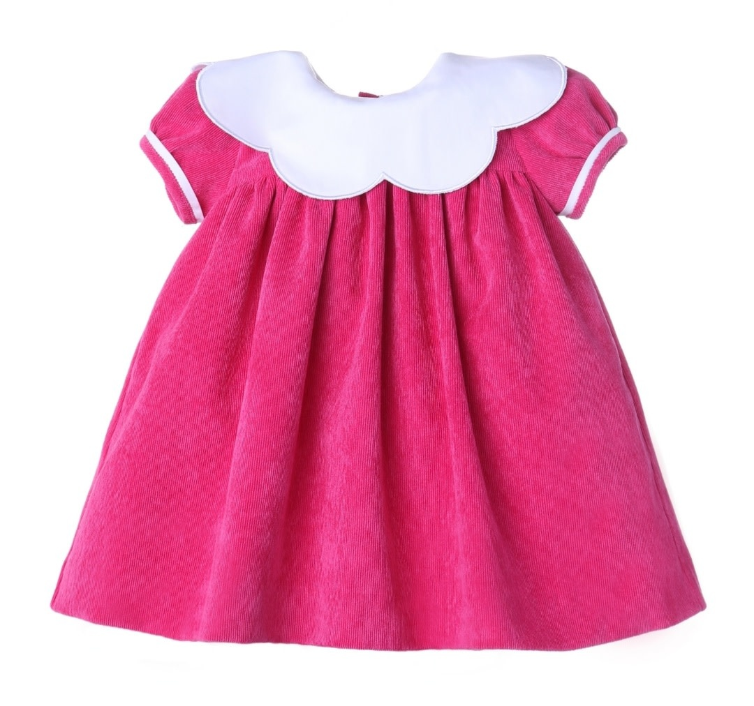 Sophie and Lucas Candy Cord Scallop Dress