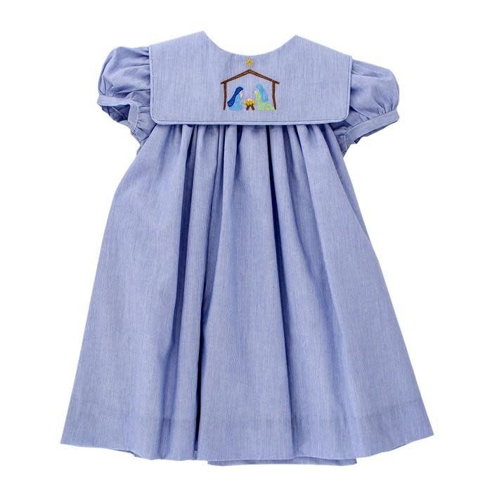 Bailey Boys Nativity Stitch Flat Dress