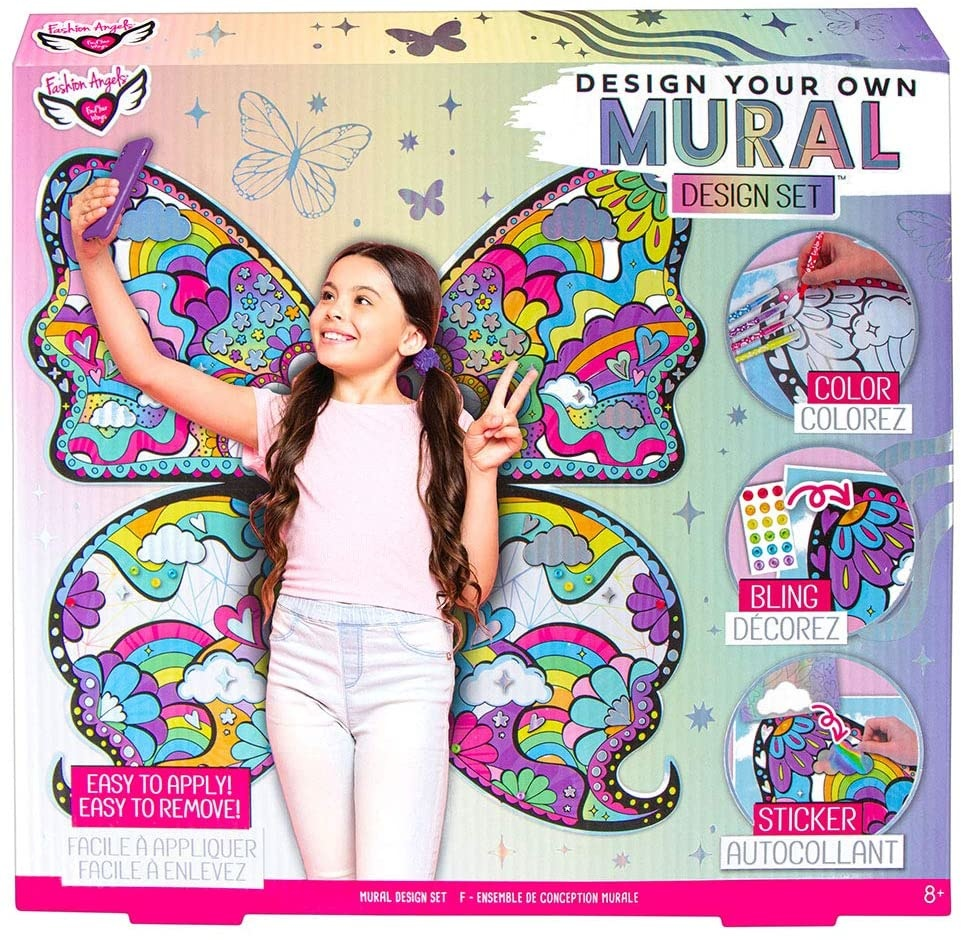 Fashion Angels DIY Butterfly Mural Design Set