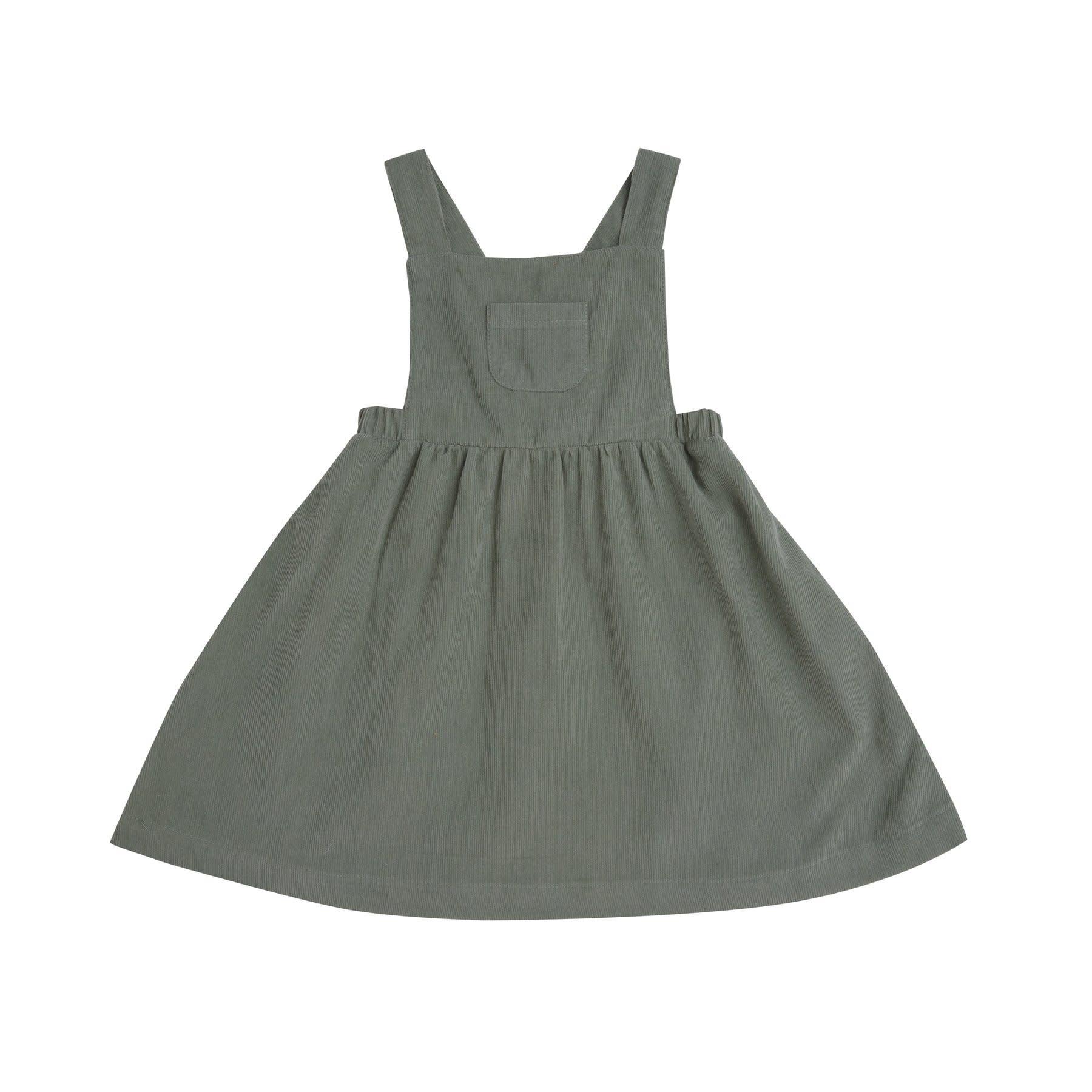 Angel Dear Hedge Green Cord Dress
