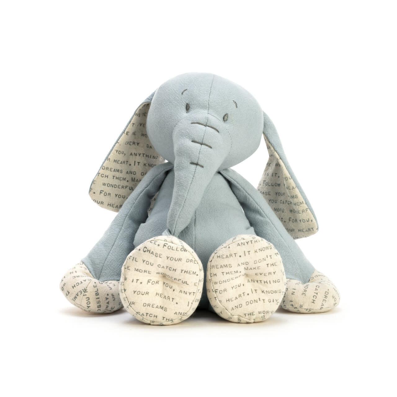 demdaco Dear Baby Elephant Plush