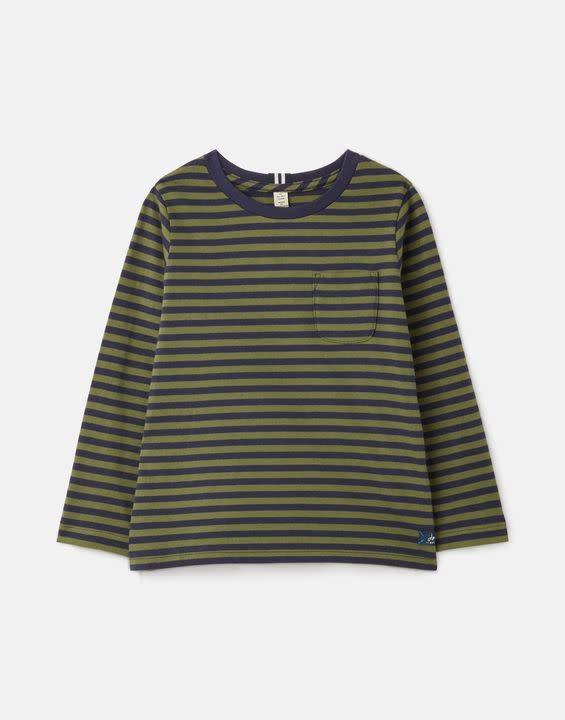 Joules Marlin Navy/Green Stripe Top