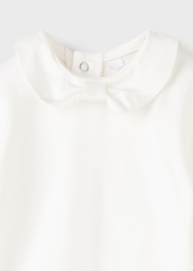 Mayoral Off White Bow Onesie